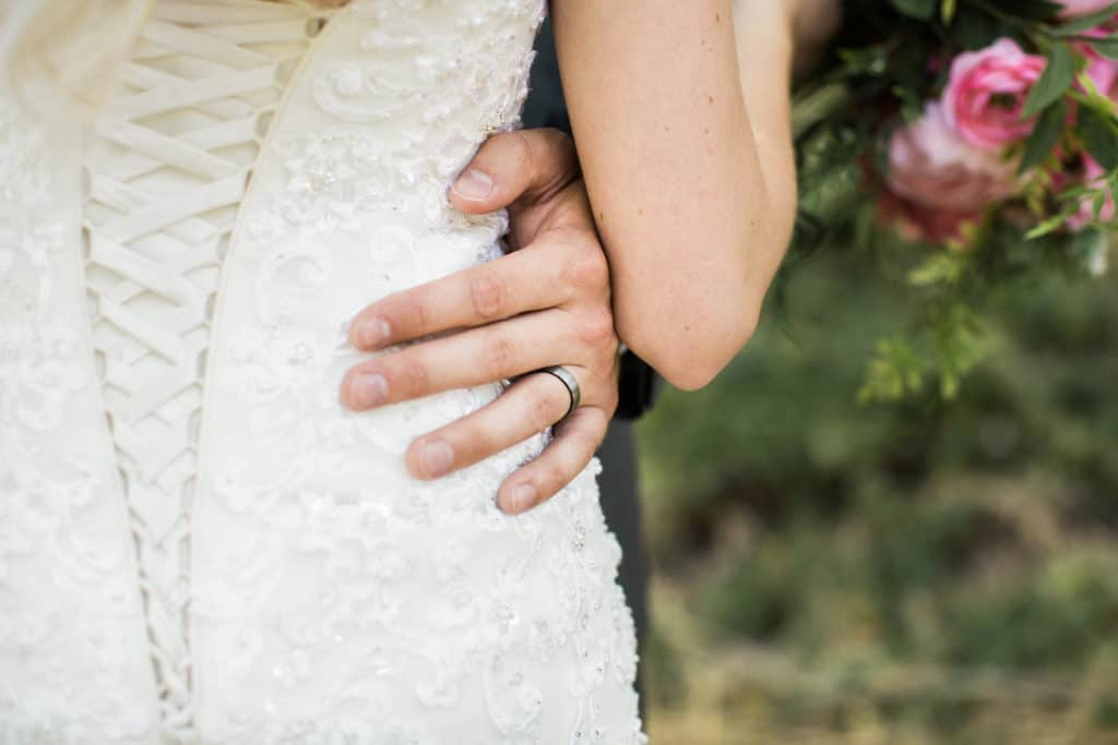 Young & Merri | What We Learned After 2 Months of Marriage | Ring and Wedding Dress Detail Shot